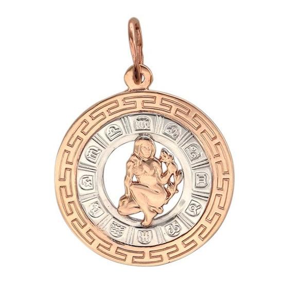 Кулон со знаком Дева из золота