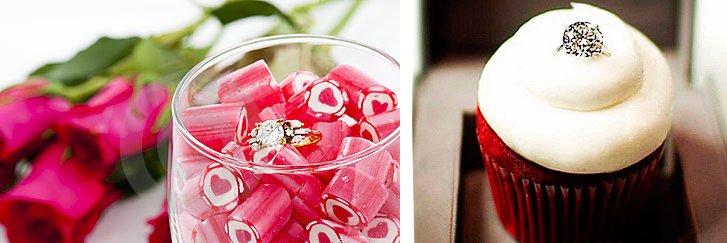Кольцо в десерте на 14 февраля