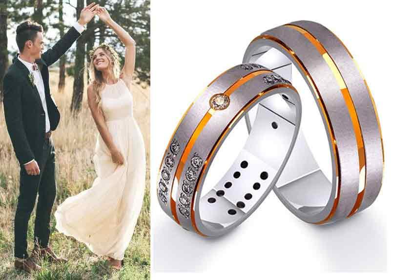 Парные обручальные кольца фото
