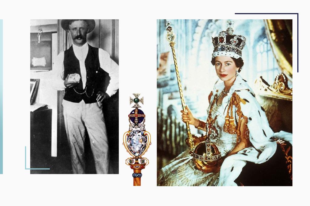 Королева Елизавета держит скипетр