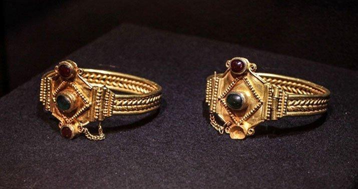 Перстни с гранатами - скифское золото