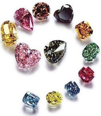 Бриллианты разных цветов