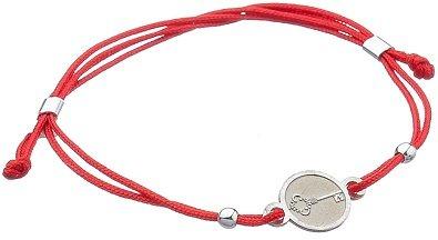 Шелковый браслет с серебром