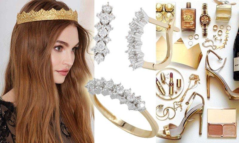 Золотые украшения для принцессы