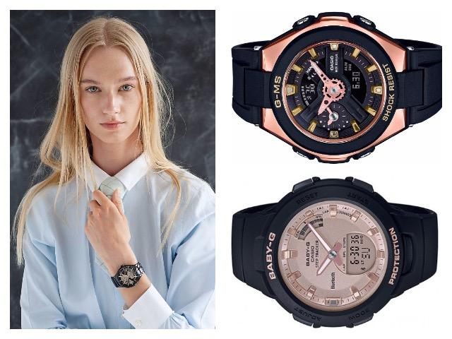 Электронные часы с черным ремешком