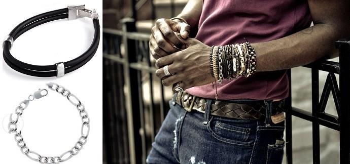 d3fdf3dd8e3a Мужские серебряные браслеты 925-й пробы  купить браслет для парня в ...