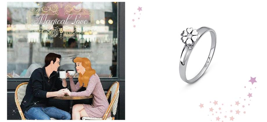Серебряное кольцо цветочек