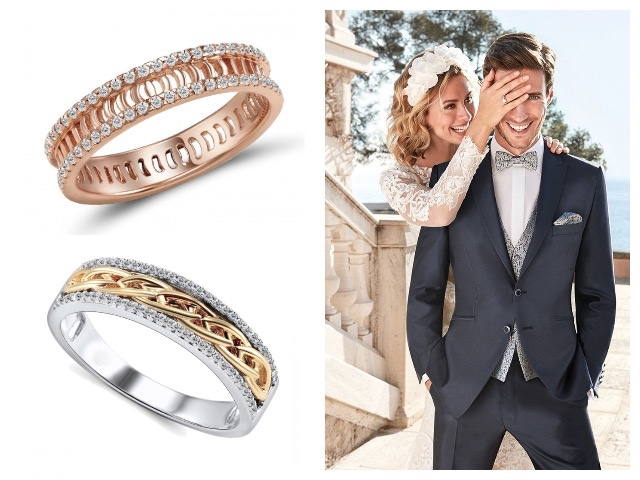 Золотые обручальные кольца дорожки