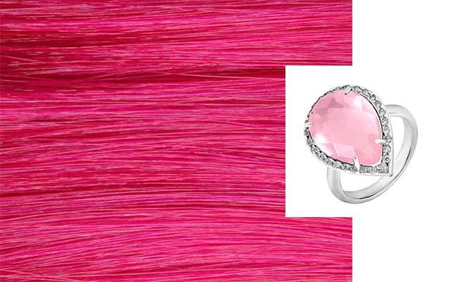 Красивое кольцо с розовым камнем
