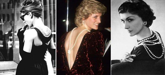 Коко Шанель, Одри Хэпберн и принцесса Диана - первые модницы, показавшие новый способ ношения колье