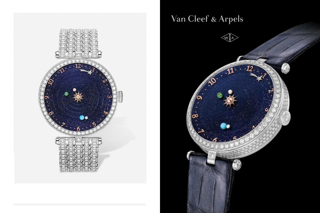 Часы с бриллиантами Lady Arpels Planétarium