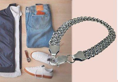 Мужской серебряный браслет с плетением