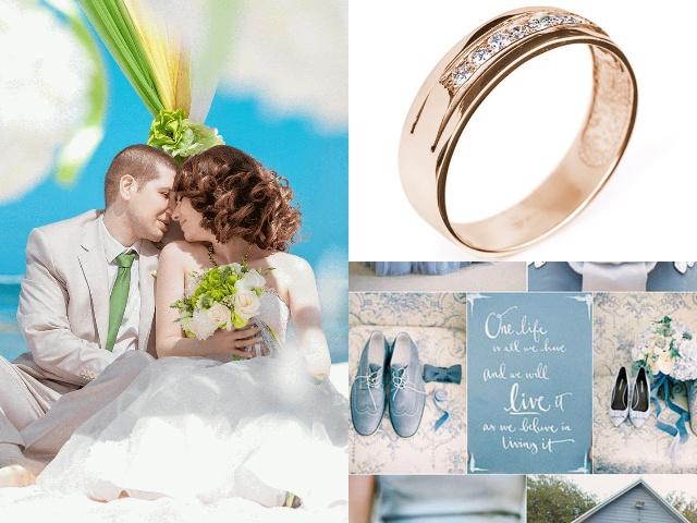 Обручальные кольца дорожки из золота с бриллиантами