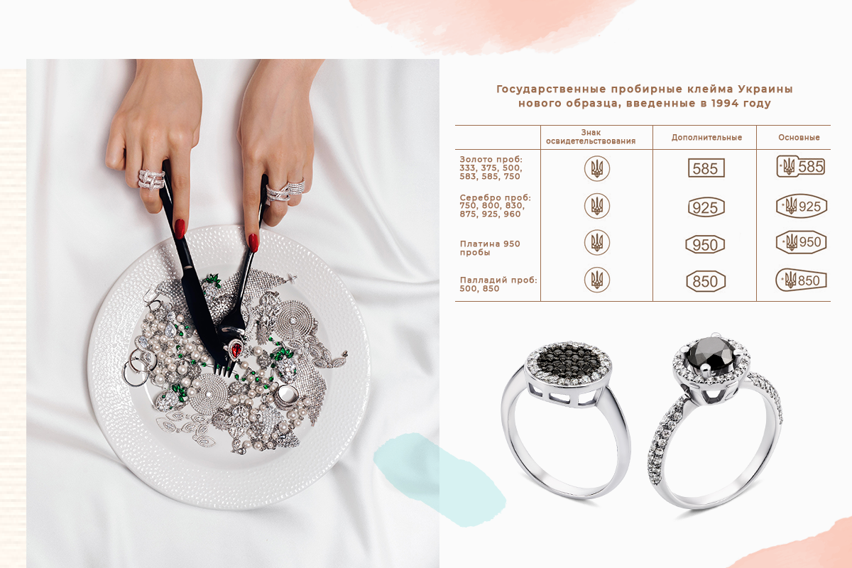 Кольца из белого золота с бриллиантами