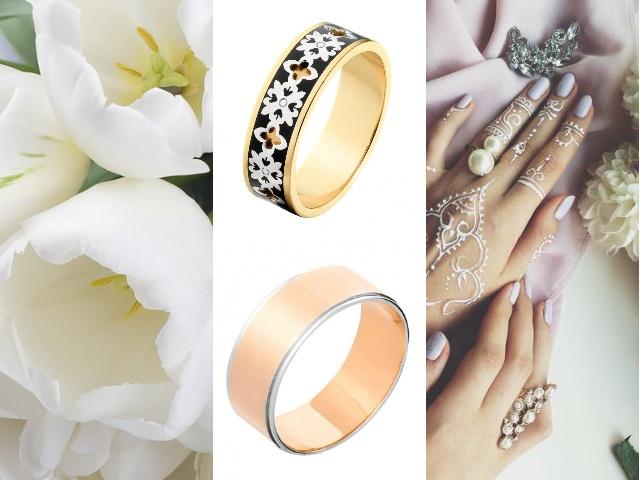 Золотые обручальные кольца американка