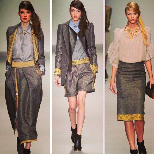 Брошь-камея на неделе моды в Лондоне