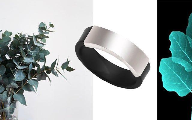 Каучуковое кольцо с серебром