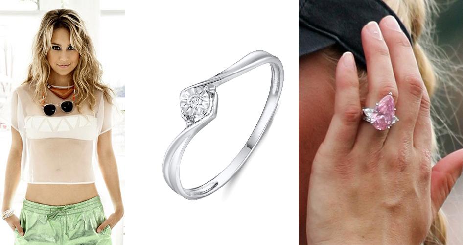 Обручальное кольцо с бриллиантами Анны Курниковой