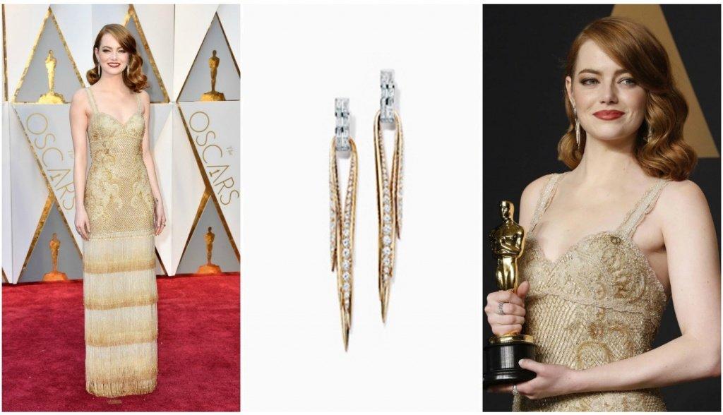 Эмма Стоун на церемонии Оскар - 2017 год