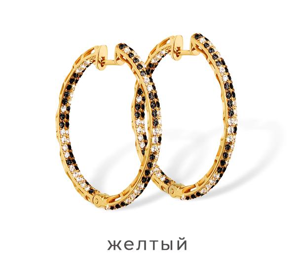 Золотые серьги в желтом золоте 585