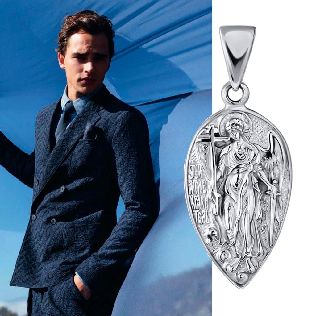 Серебряная ладанка мужчине