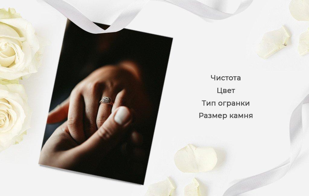 камень в помолвочном кольце