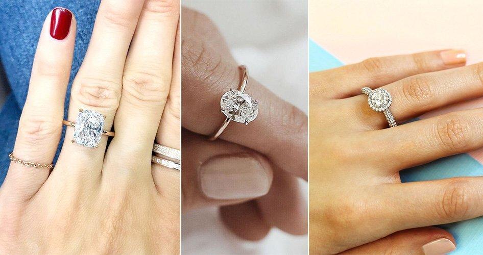 Кольца на пальце для помолвки
