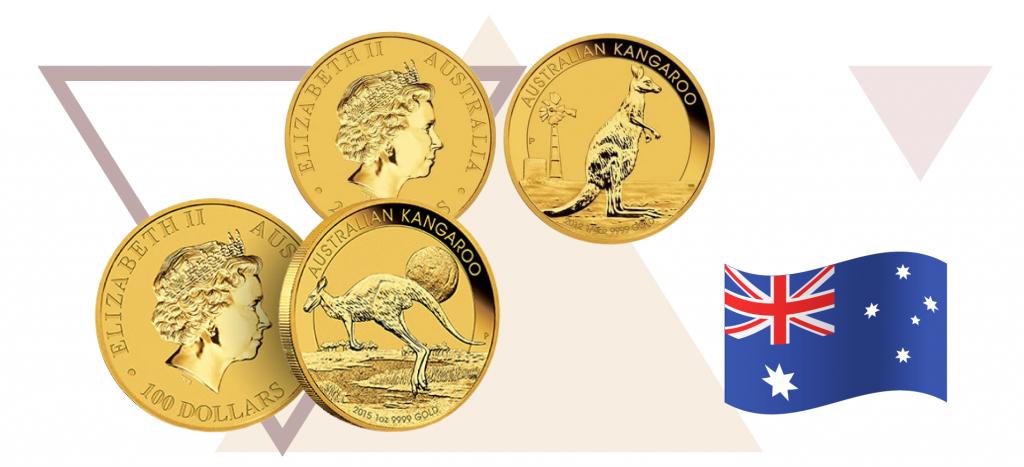 Монета Австралии Кенгуру