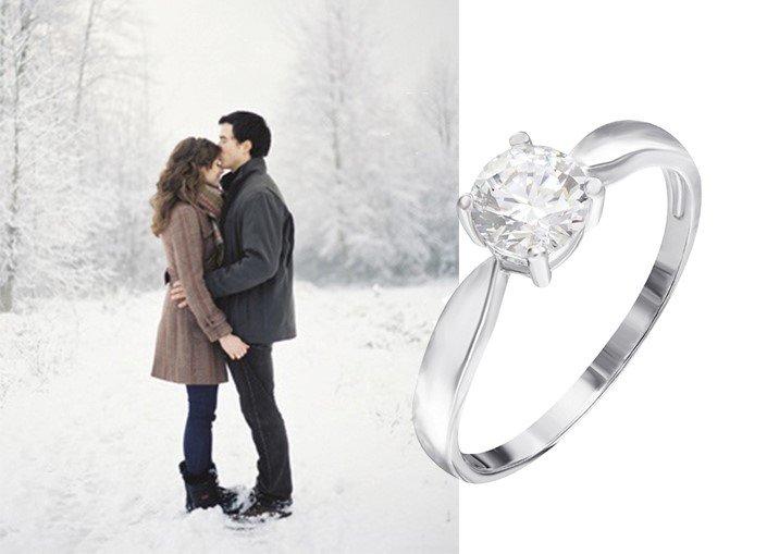 Кольцо из серебра для помолвки
