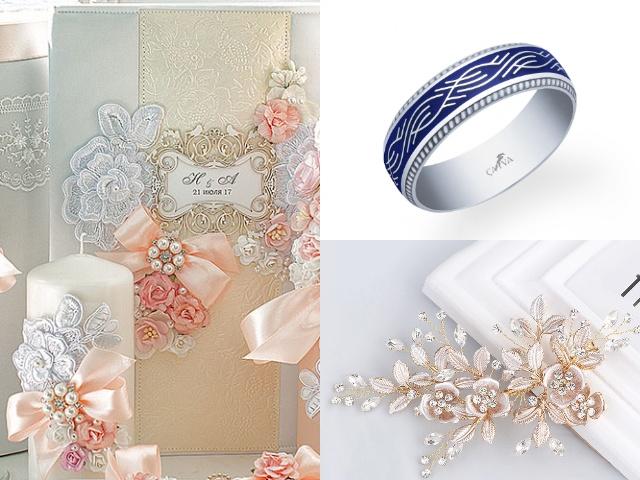 Серебряное кольцо с эмалью на свадьбу