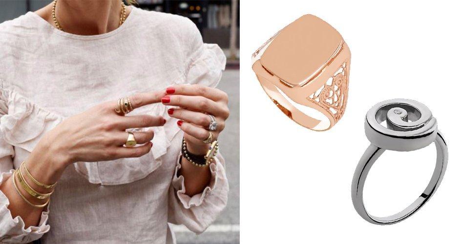 Кольца-печатки для женщин