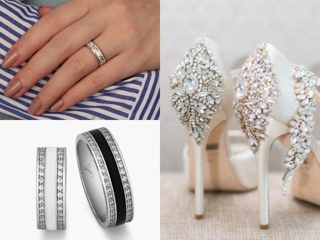 Обручальные кольца из серебра с эмалевым покрытием