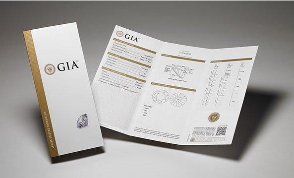 Сертификат качества бриллианта GIA