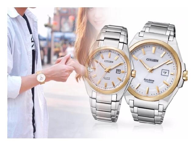 Часы титановые с позолотой на руку