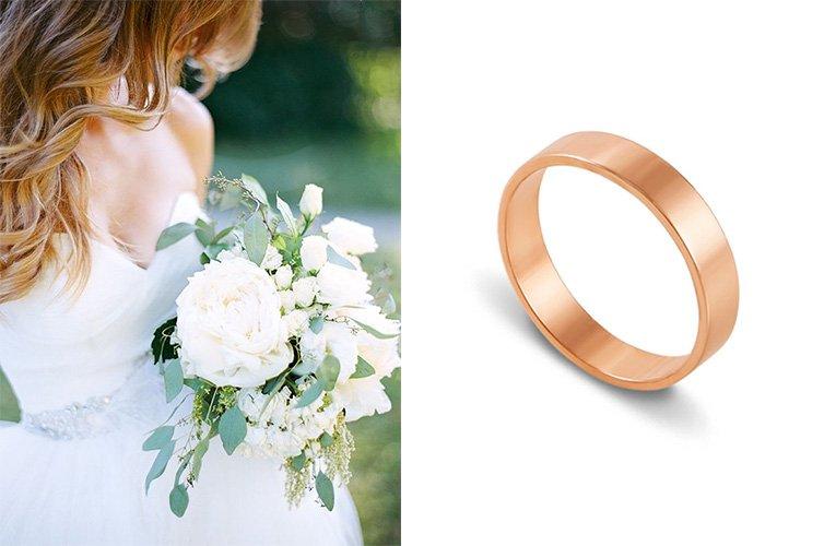 Классическое золотое обручальное кольцо