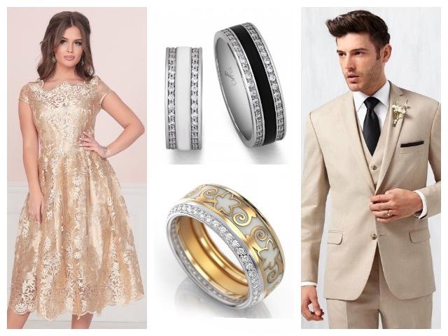 Мужские и женские кольца с эмалью