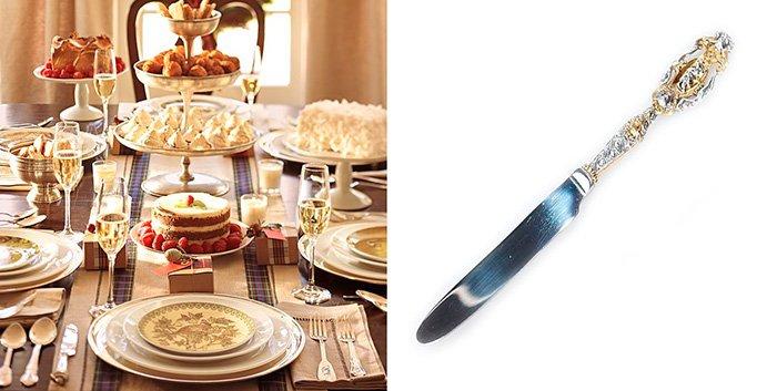 Столовый серебряный нож