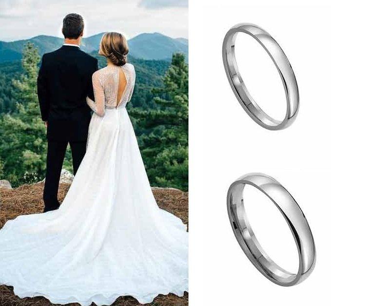 Классческие платиновые кольца