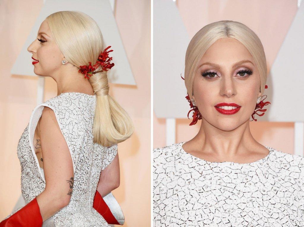 Леди Гага в роскошном белом платье