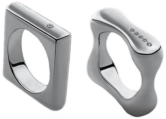 Серебренные кольца с бриллиантами