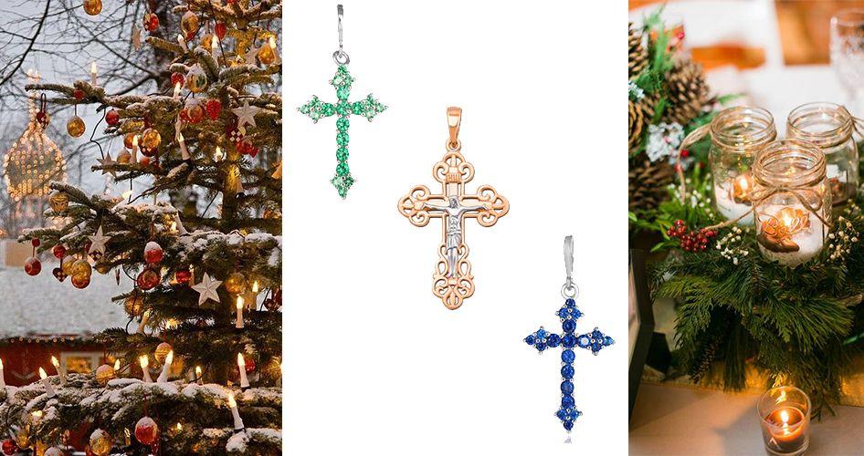 Красивые крестики на Рождество