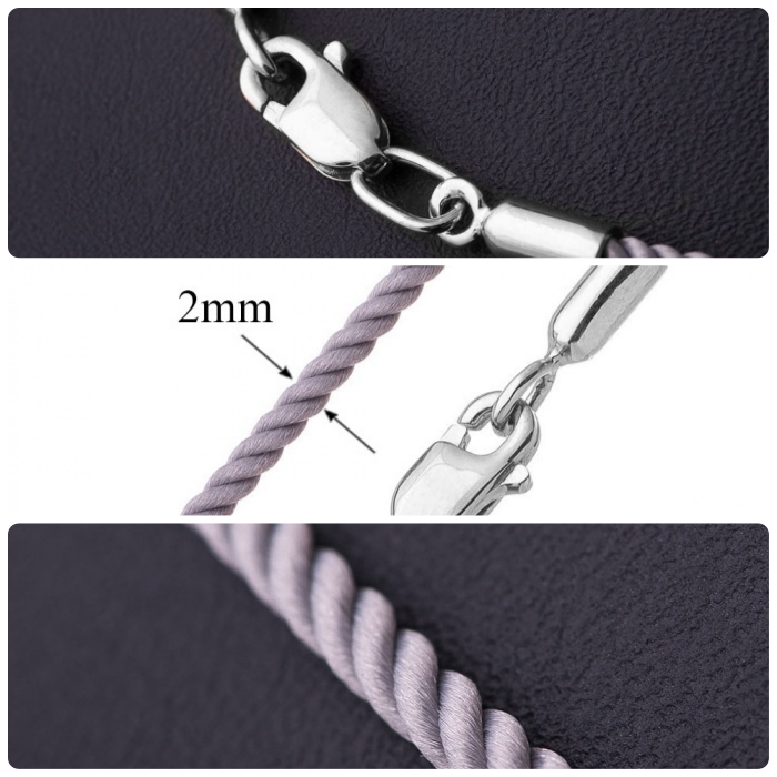 Фиолетовые шнурки на шею