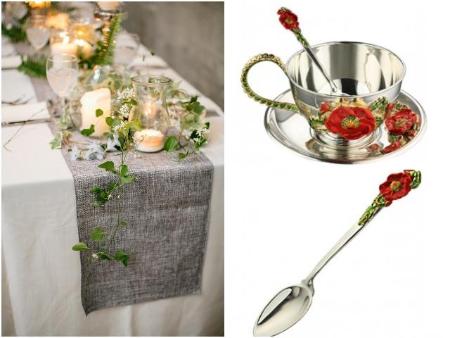 Набор столовой посуды с маками