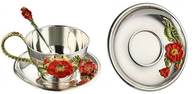Набор серебренной посуды