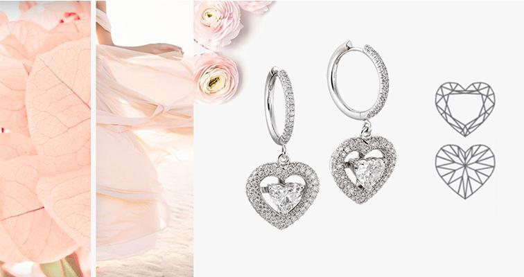 Форма огранки сердце в ювелирных украшениях