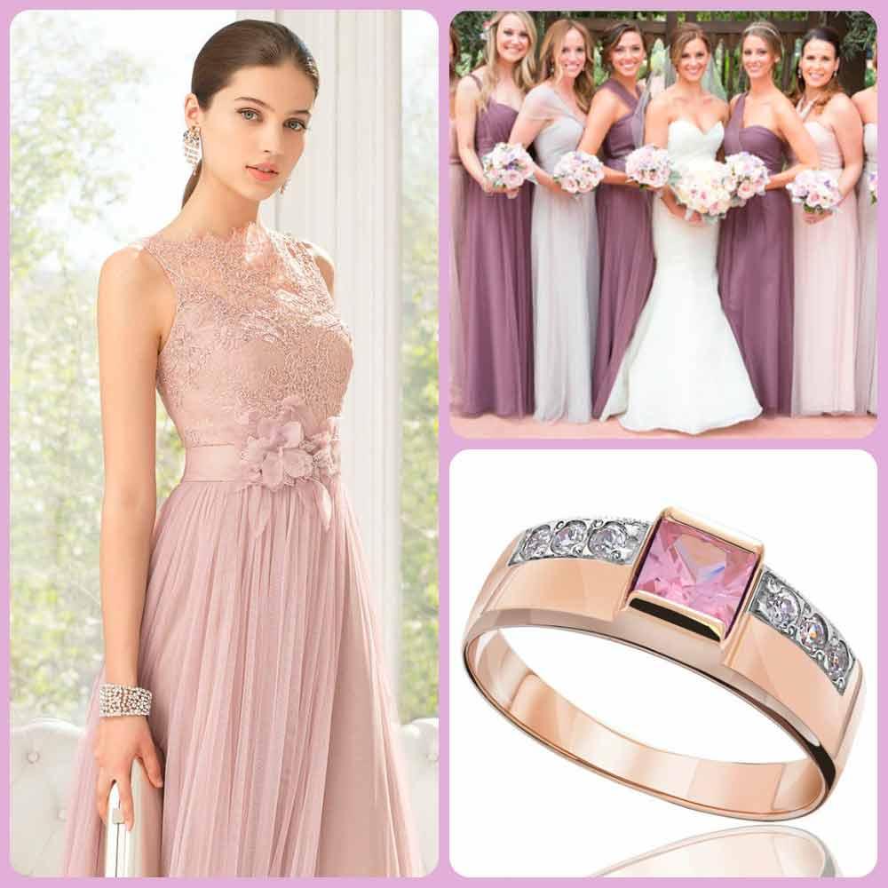 Розовый кварц и нежно-лавандовый - модные цвета для свадеб в 2016 году
