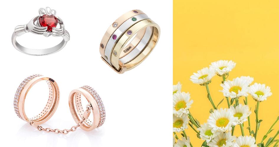 Модные золотые кольца