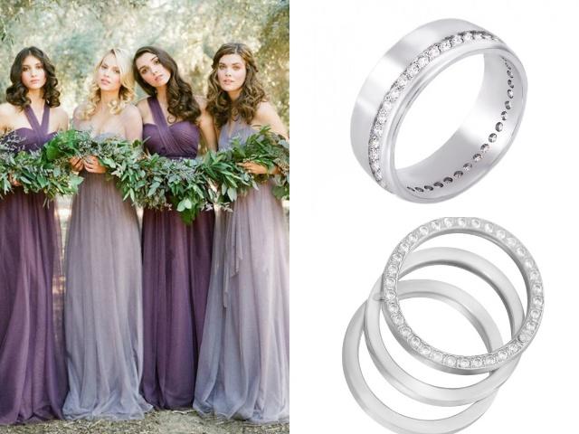 Обручальные кольца с дорожками из фианитов