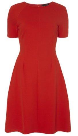 Красное базовое платье