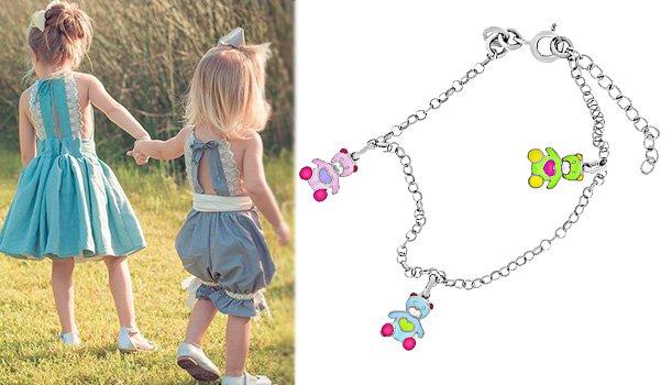 Детский браслет с ювелирной эмалью